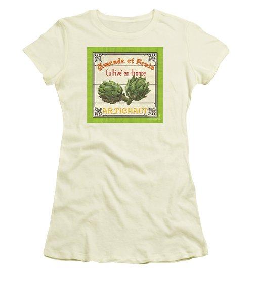 French Vegetable Sign 2 Women's T-Shirt (Junior Cut) by Debbie DeWitt