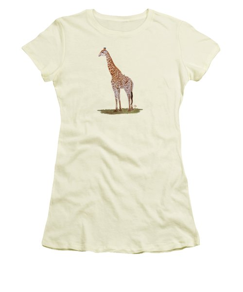 Giraffe Women's T-Shirt (Junior Cut) by Angeles M Pomata