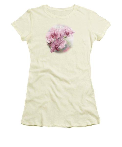 Graceful Orchids Women's T-Shirt (Junior Cut) by Lucie Bilodeau