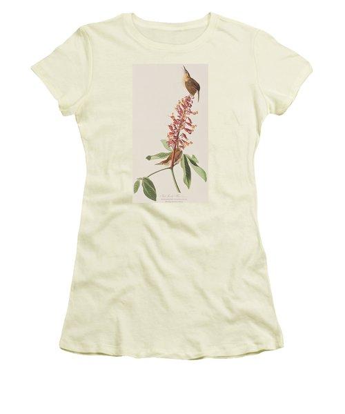 Great Carolina Wren Women's T-Shirt (Junior Cut) by John James Audubon