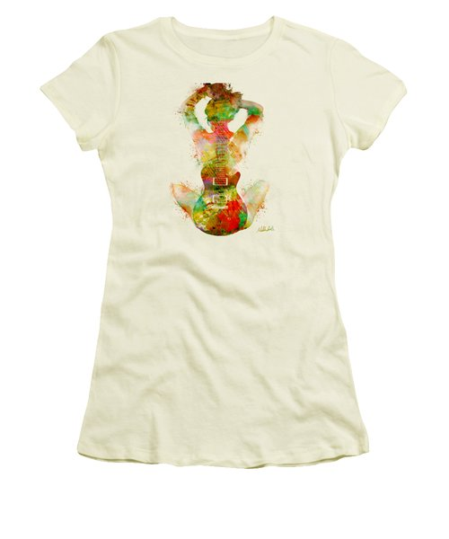 Guitar Siren Women's T-Shirt (Junior Cut) by Nikki Smith