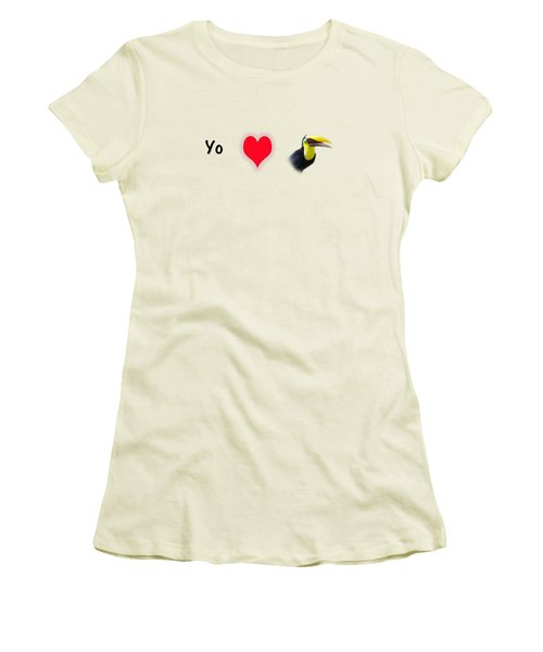I Love Toucans Women's T-Shirt (Junior Cut) by Paul  Gerace