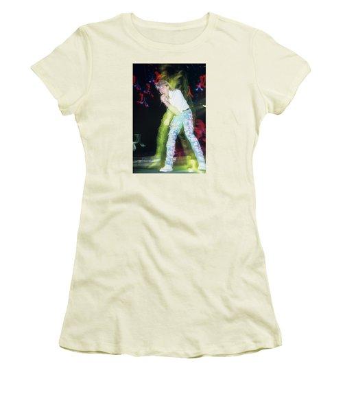 Joe Elliott Of Def Leppard Women's T-Shirt (Junior Cut) by Rich Fuscia