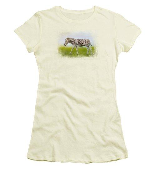 Journey Of The Zebra Women's T-Shirt (Junior Cut) by Jai Johnson