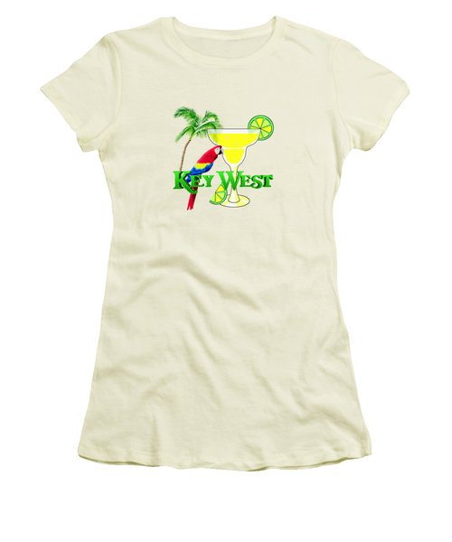 Key West Margarita Women's T-Shirt (Junior Cut) by Chris MacDonald