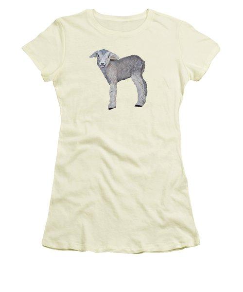 Lamb Women's T-Shirt (Junior Cut) by Petra Stephens
