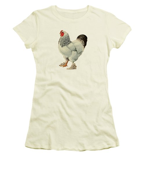 Light Brahmas Rooster Women's T-Shirt (Junior Cut) by Unknown
