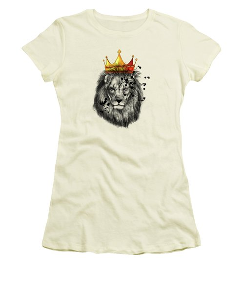 Lion King  Women's T-Shirt (Junior Cut) by Mark Ashkenazi