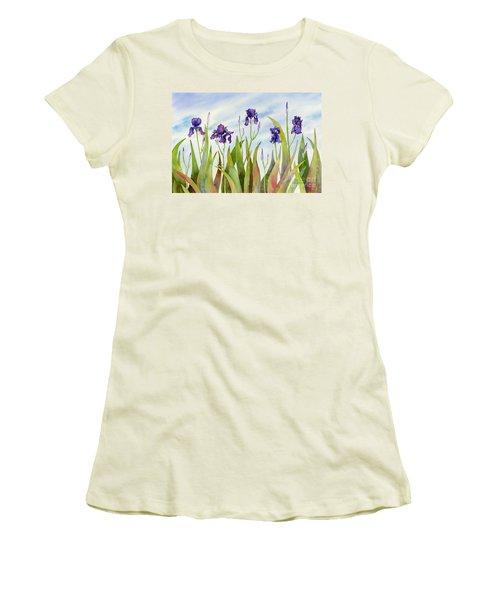 Listening To Divas Women's T-Shirt (Junior Cut) by Amy Kirkpatrick