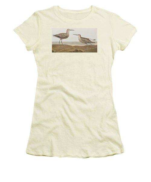 Long-legged Sandpiper Women's T-Shirt (Junior Cut) by John James Audubon