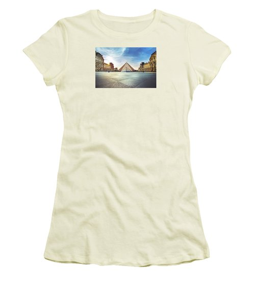 Louvre Museum Women's T-Shirt (Junior Cut) by Ivan Vukelic