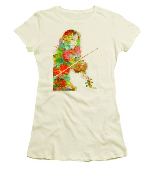 Music In My Soul Women's T-Shirt (Junior Cut) by Nikki Smith
