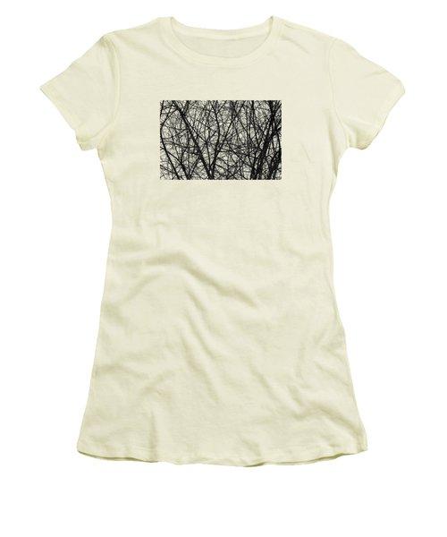 Natural Trees Map Women's T-Shirt (Junior Cut) by Konstantin Sevostyanov