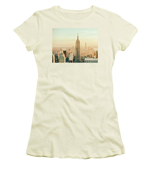 New York City - Skyline Dream Women's T-Shirt (Junior Cut) by Vivienne Gucwa