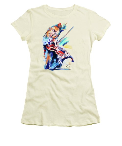 Nigel Kennedy Women's T-Shirt (Junior Cut) by Melanie D