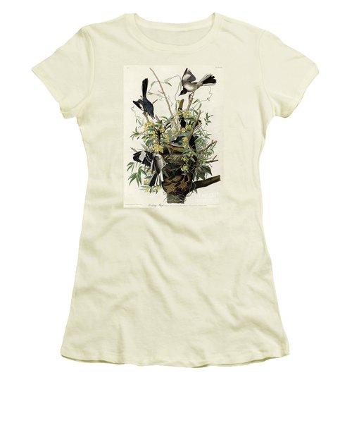 Northern Mockingbird Women's T-Shirt (Junior Cut) by Granger