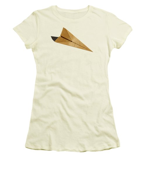 Paper Airplanes Of Wood 15 Women's T-Shirt (Junior Cut) by YoPedro