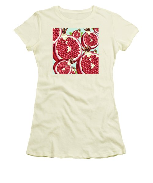 Pomegranate   Women's T-Shirt (Junior Cut) by Mark Ashkenazi
