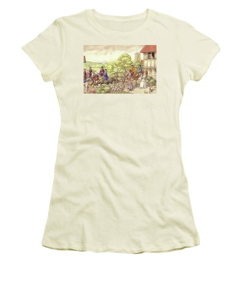 Prince Edward Riding From Ludlow To London Women's T-Shirt (Junior Cut) by Pat Nicolle