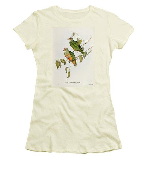 Ptilinopus Ewingii Women's T-Shirt (Junior Cut) by John Gould