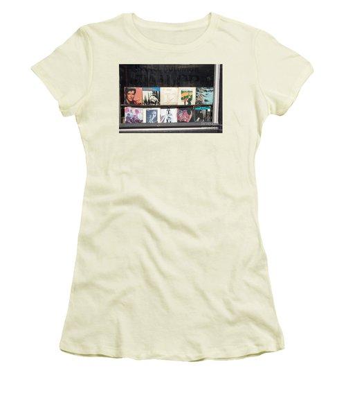 Record Store Burlington Vermont Women's T-Shirt (Junior Cut) by Edward Fielding