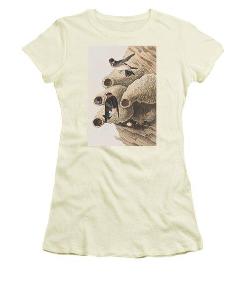 Republican Or Cliff Swallow Women's T-Shirt (Junior Cut) by John James Audubon