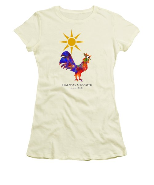 Rooster Pattern Art Women's T-Shirt (Junior Cut) by Christina Rollo