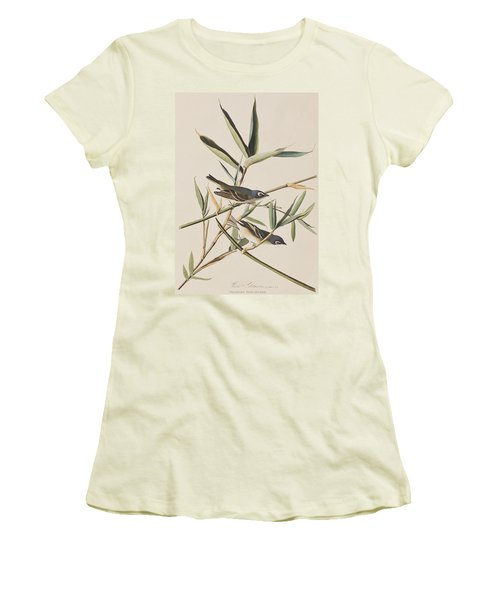 Solitary Flycatcher Or Vireo Women's T-Shirt (Junior Cut) by John James Audubon