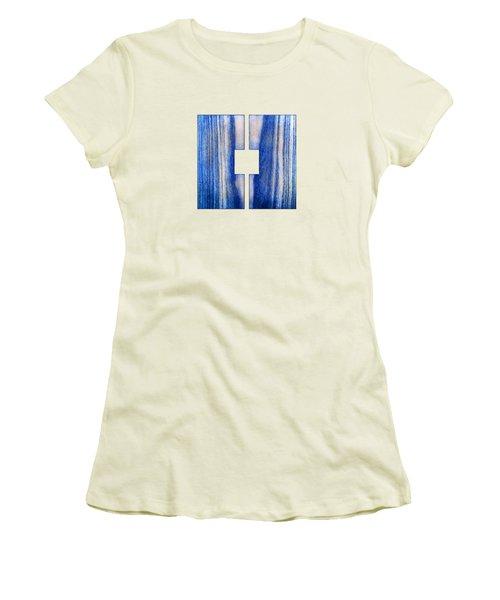 Split Square Blue Women's T-Shirt (Junior Cut) by YoPedro