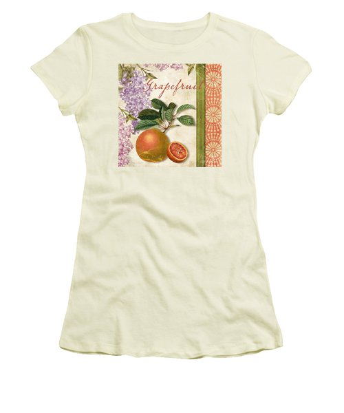 Summer Citrus Grapefruit Women's T-Shirt (Junior Cut) by Mindy Sommers