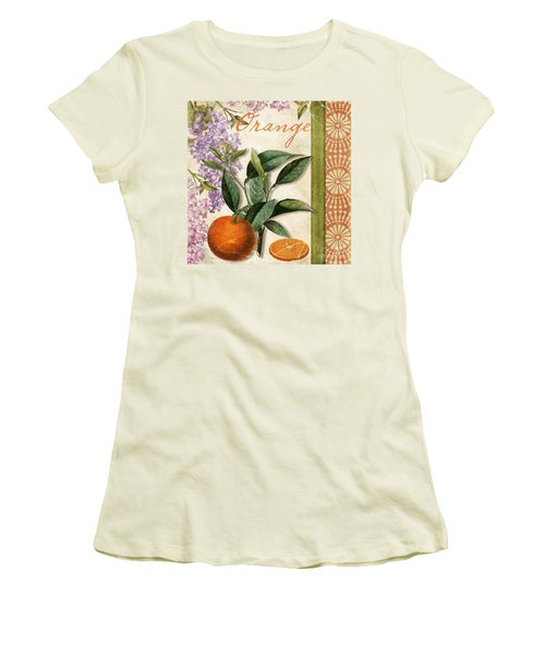 Summer Citrus Orange Women's T-Shirt (Junior Cut) by Mindy Sommers