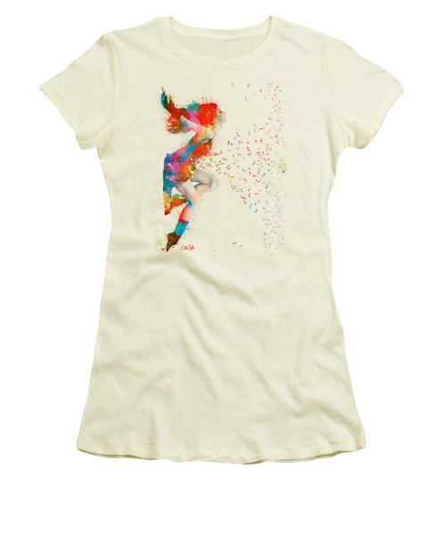 Sweet Jenny Bursting With Music Women's T-Shirt (Junior Cut) by Nikki Smith