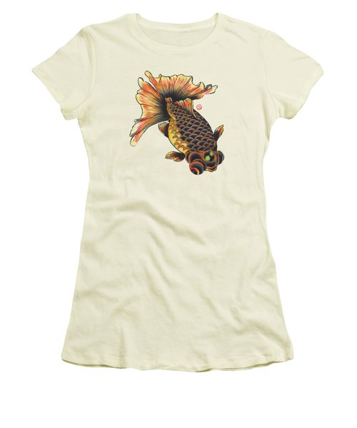 Telescope Goldfish Women's T-Shirt (Junior Cut) by Shih Chang Yang