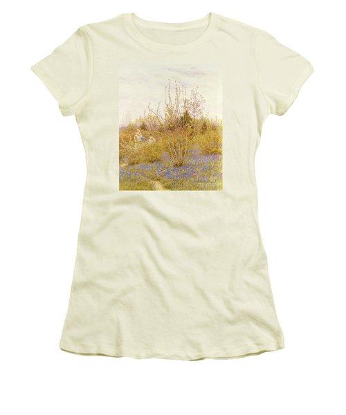 The Cuckoo Women's T-Shirt (Junior Cut) by Helen Allingham