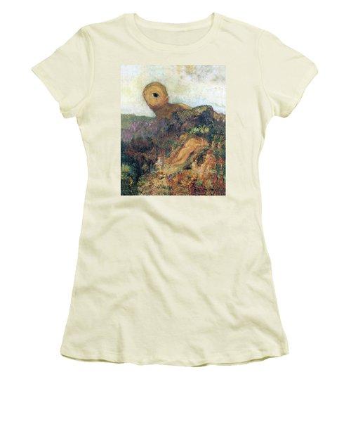 The Cyclops Women's T-Shirt (Junior Cut) by Odilon Redon