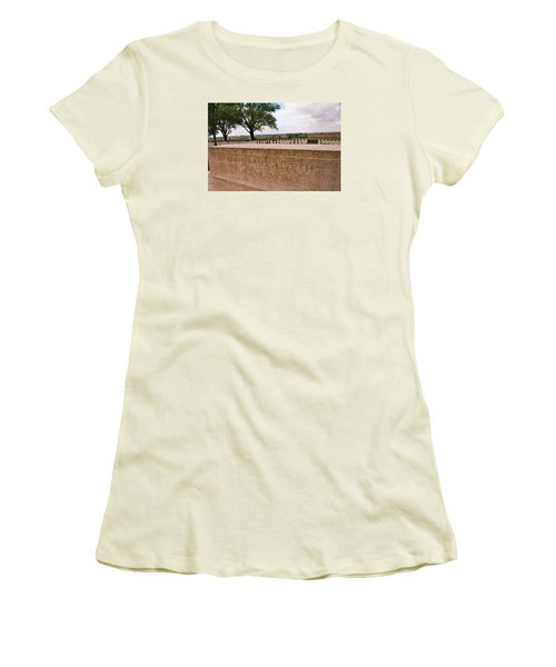 Women's T-Shirt (Junior Cut) featuring the photograph Their Name Liveth For Evermore by Travel Pics