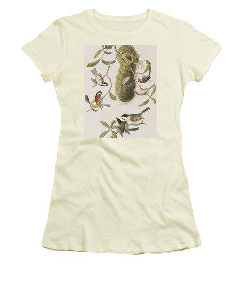 Titmouses Women's T-Shirt (Junior Cut) by John James Audubon