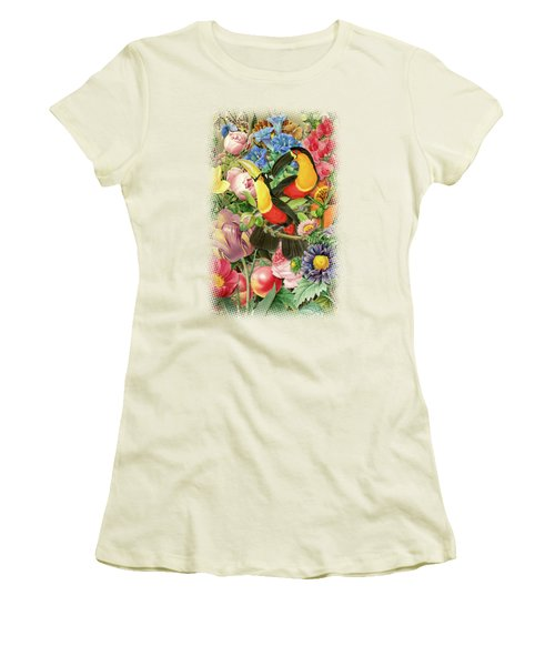 Toucans Women's T-Shirt (Junior Cut) by Gary Grayson