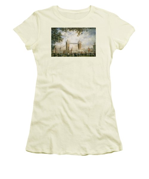 Tower Bridge - From The Tower Of London Women's T-Shirt (Junior Cut) by Richard Willis