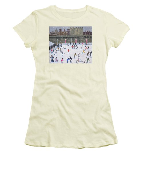 Tower Of London Ice Rink Women's T-Shirt (Junior Cut) by Andrew Macara