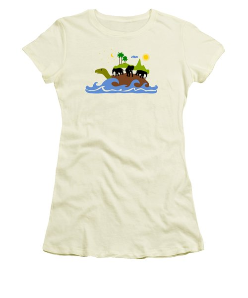 Turtles All The Way Down Women's T-Shirt (Junior Cut) by Anastasiya Malakhova