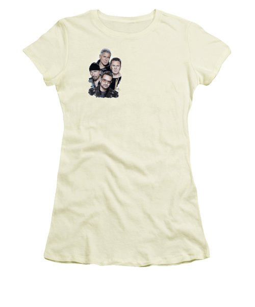 U2 Women's T-Shirt (Junior Cut) by Melanie D