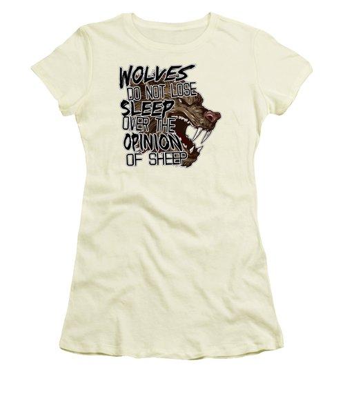 Wolves And Sheep Women's T-Shirt (Junior Cut) by Michelle Murphy