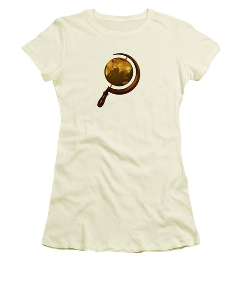 Workers Of The Globe Women's T-Shirt (Junior Cut) by Nicholas Ely