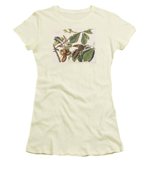 Yellow Billed Cuckoo Women's T-Shirt (Junior Cut) by John James Audubon