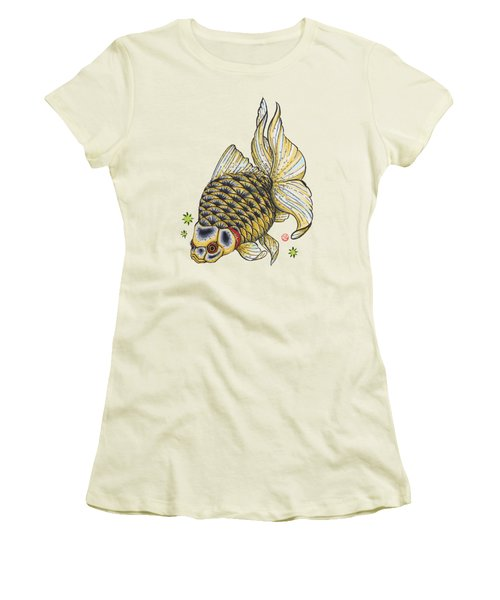 Yellow Ryukin Women's T-Shirt (Junior Cut) by Shih Chang Yang