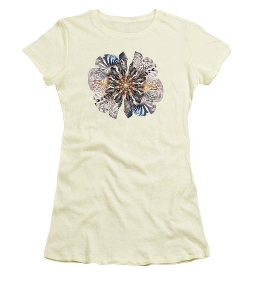 Zebra Flower Women's T-Shirt (Junior Cut) by Anastasiya Malakhova