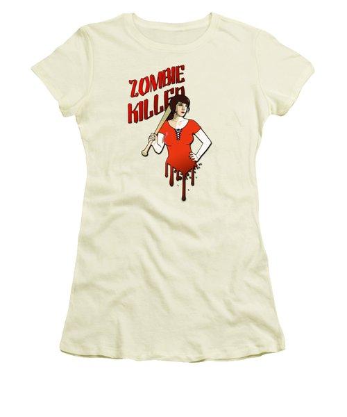 Zombie Killer Women's T-Shirt (Junior Cut) by Nicklas Gustafsson