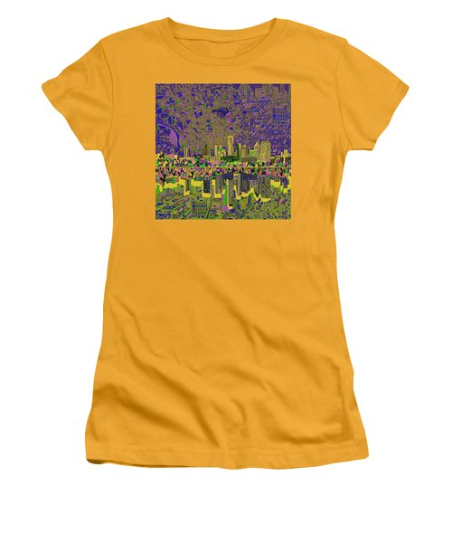 Austin Texas Skyline Women's T-Shirt (Junior Cut) by Bekim Art