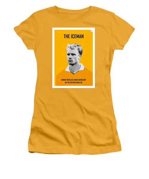 My Bergkamp Soccer Legend Poster Women's T-Shirt (Junior Cut) by Chungkong Art